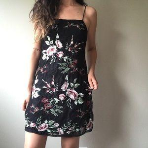 ASTR Lace Floral Mini Dress